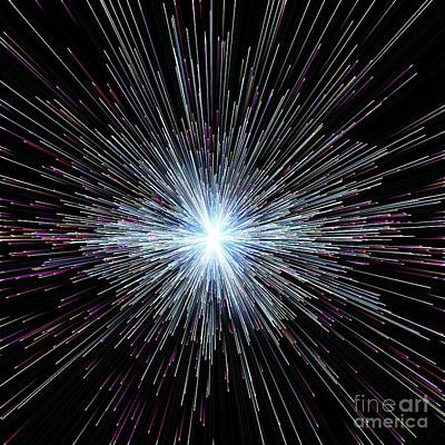 Particle Rays, Artwork Art Print