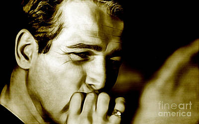 Paul Newman Collection Art Print