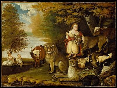 Peaceable Painting - Peaceable Kingdom by Edward Hicks