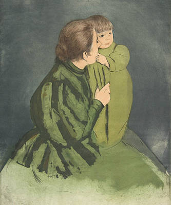 Relief - Peasant Mother And Child by Mary Cassatt