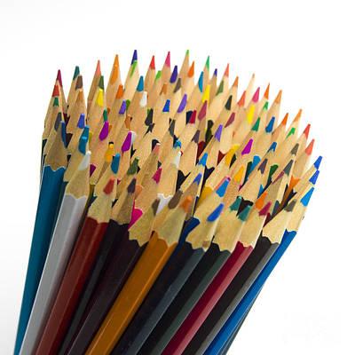 Large Group Of Objects Photograph - Pencils by Bernard Jaubert