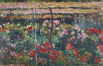 Photograph - Peony Garden by Claude Monet
