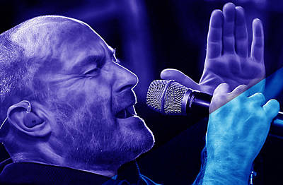 Phil Collins Collection Print by Marvin Blaine