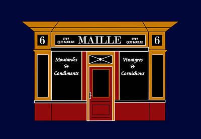 6 Place De La Madeleine A Parisian Shop Art Print