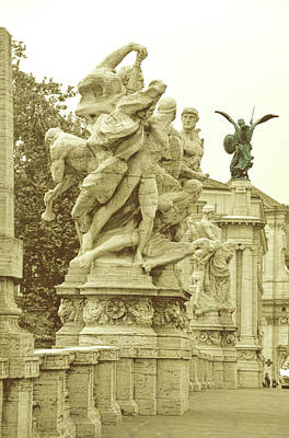 Ponte Vittorio Emanuele II Rome Art Print by JAMART Photography