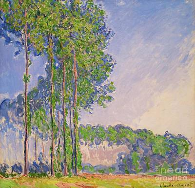 Landsape Painting - Poplars by Claude Monet