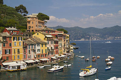 Portofino In The Italian Riviera In Liguria Italy Art Print by David Smith