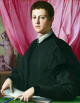 Painting - Portrait Of A Young Man by Bronzino