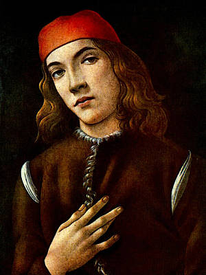 Digital Art - Portrait Of A Young Man   by Sandro Botticelli