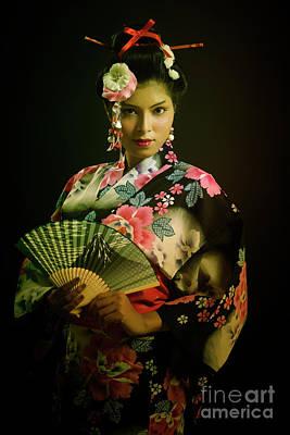 Photograph - Portrait Of Young Japanese Lady by Kiran Joshi