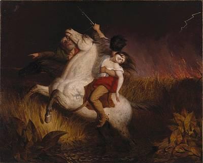 Dea Painting - Prairie On Fire by Charles Deas