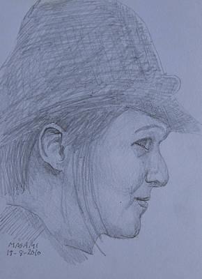 Drawing - Profile by Masami Iida