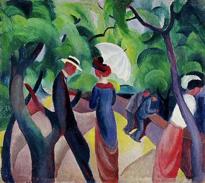 Painting - Promenade  by August Macke