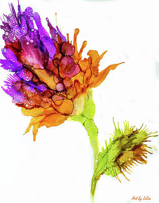 Painting - Purple Flower by Lilia D