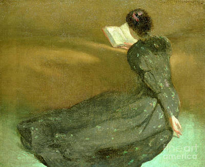 Library Painting - Repose by John White Alexander