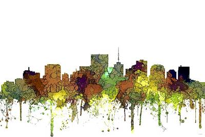 Digital Art - Richmond Virginia Skyline by Marlene Watson
