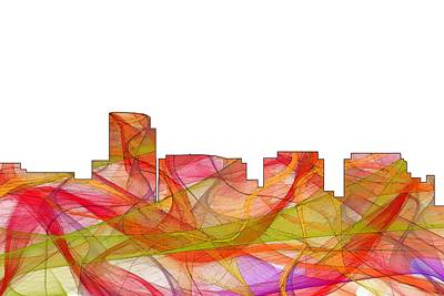 Digital Art - Rosslyn Virginia Skyline by Marlene Watson
