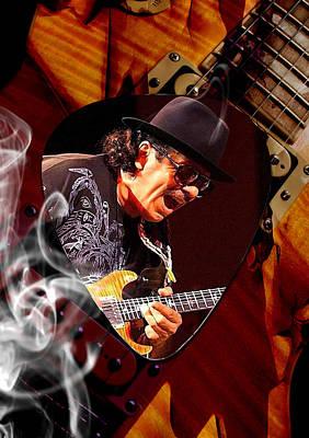Guitar Mixed Media - Santana Art by Marvin Blaine