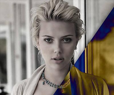 Beauty Mixed Media - Scarlett Johansson Collection by Marvin Blaine