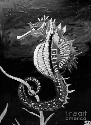 Sea Horse Oil Painting  Original