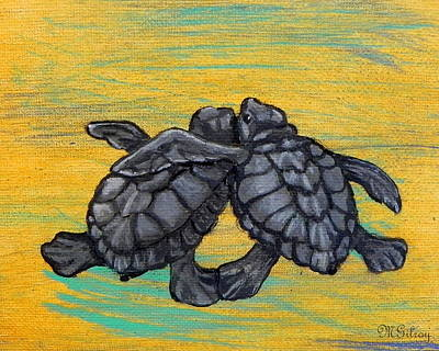 Sea Turtles Art Print by MGilroy