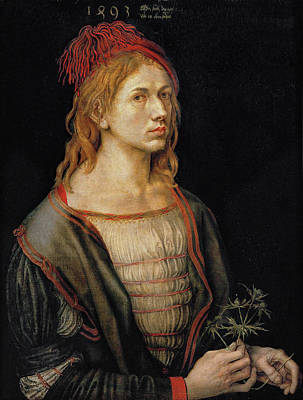 Self Shot Painting - Self-portrait by Albrecht Durer