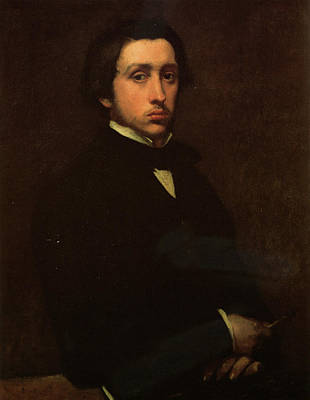 Self Shot Painting - Self-portrait by Edgar Degas