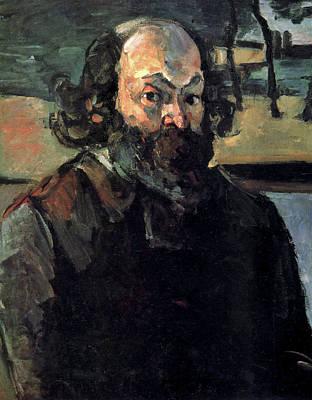 Self Shot Painting - Self-portrait by Paul Cezanne