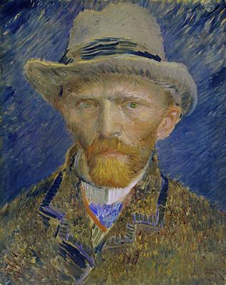 Self Portrait Painting - Self-portrait With Grey Felt Hat by Vincent van Gogh