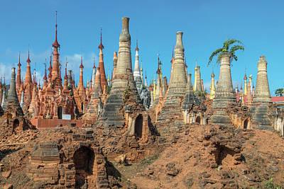 Myanmar Photograph - Shwe Indein Pagoda - Myanmar by Joana Kruse