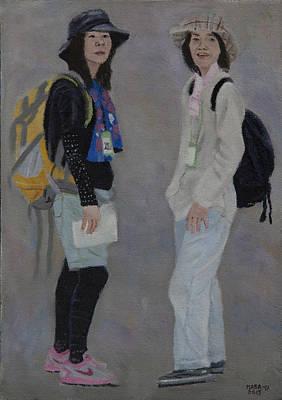 Painting - Sisters by Masami Iida