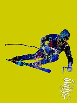 Mixed Media - Skiing Collection by Marvin Blaine