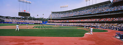 Dodger Stadium Photograph - Spectators Watching A Baseball Match by Panoramic Images