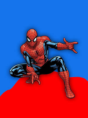 Spiderman Collection Art Print by Marvin Blaine