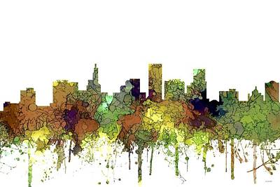 Digital Art - St Paul Minnesota Skyline by Marlene Watson