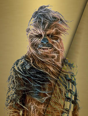 Robot Mixed Media - Star Wars Chewbacca Collection by Marvin Blaine