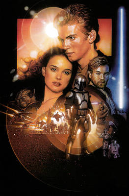 Star Wars Episode II - Attack Of The Clones 2002 Art Print