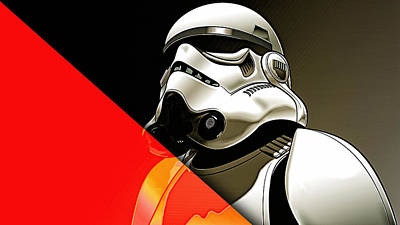 Star Wars Stormtrooper Collection Art Print by Marvin Blaine