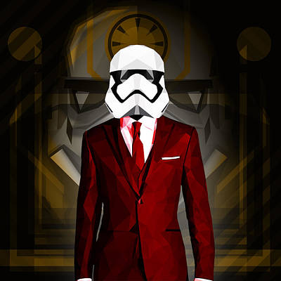 Ewok Digital Art - Star Wars Stormtrooper by Gallini Design