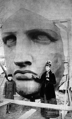 Statue Of Liberty, 1885 Art Print by Granger