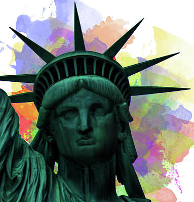 Statue Of Liberty Art Print by Martin Newman