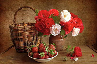 Rose Digital Art - Still Life by Super Lovely