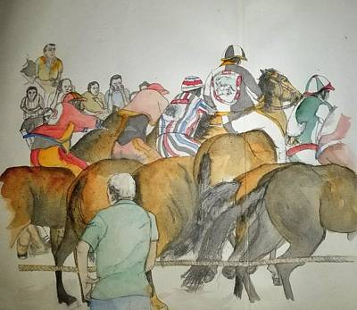 Painting - Still Racing After 400 Yrs Album by Debbi Saccomanno Chan