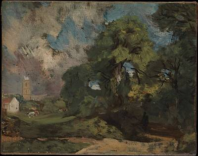Stoke-by-nayland Original by John Constable