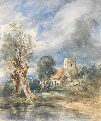 Painting - Stoke Poges Church by John Constable