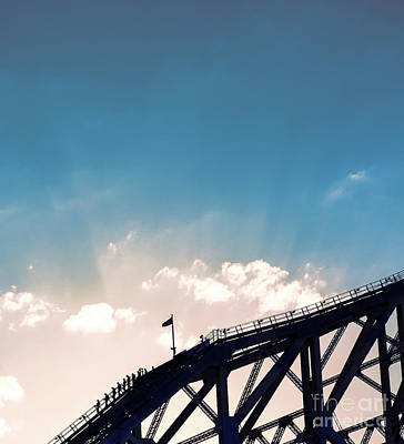 Photograph - Story Bridge In Brisbane, Queensland. by Rob D