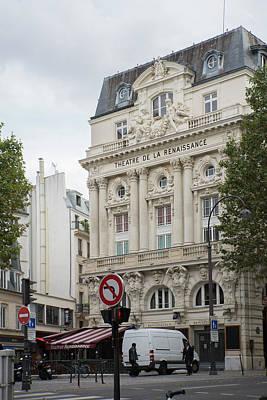 Digital Art - Street Scene Paris France by Carol Ailles