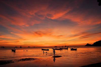 Sunrise On Koh Tao Island In Thailand Art Print by Tamara Sushko
