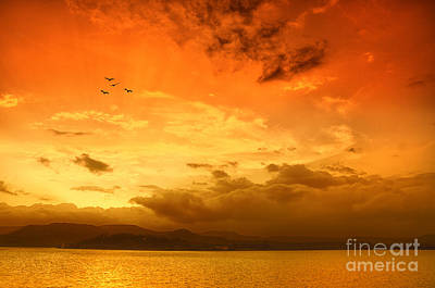 Sunset  Art Print by Charuhas Images