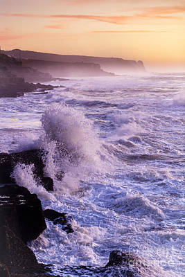 Sunset In The Portuguese Coast Art Print by Andre Goncalves